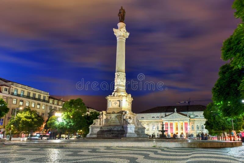 Rossiovierkant - Lissabon, Portugal royalty-vrije stock foto's