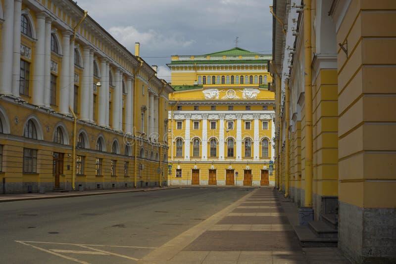 Rossis gata i St Petersburg royaltyfri foto