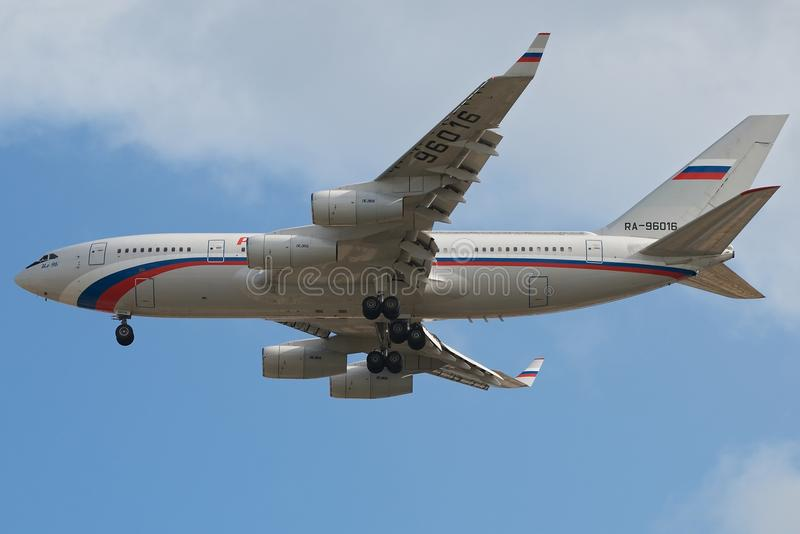 rossiya ilyushin 96 авиакомпаний стоковое изображение rf