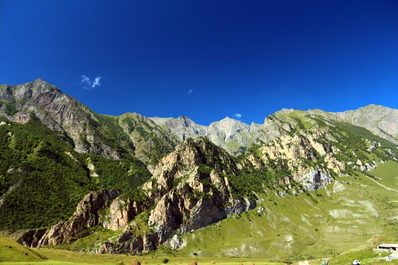 Russia.Kabardino-Balkarian republic. Chegem gorge, a place from where fly the steamers. Rossiya.Kabardino-Balkarian republic. Chegem gorge, a place from where stock images