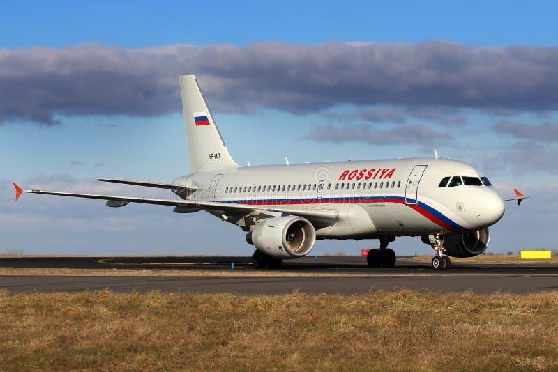 Rossiya - linee aeree russe fotografia stock libera da diritti