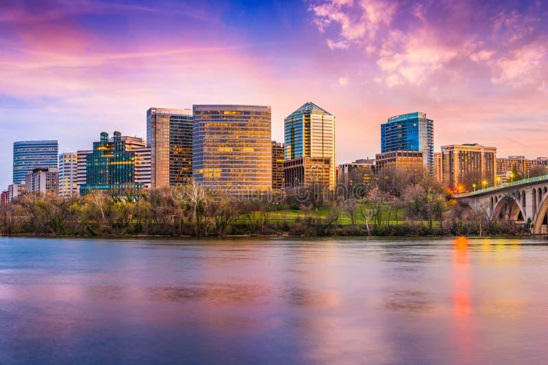 Rosslyn, Arlington, de horizon van Virginia, de V.S. royalty-vrije stock afbeelding
