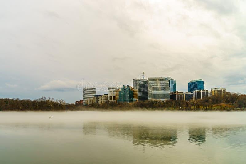 Rosslyn, Arlington, Virginia, USA city skyline on the Potomac River royalty free stock photos