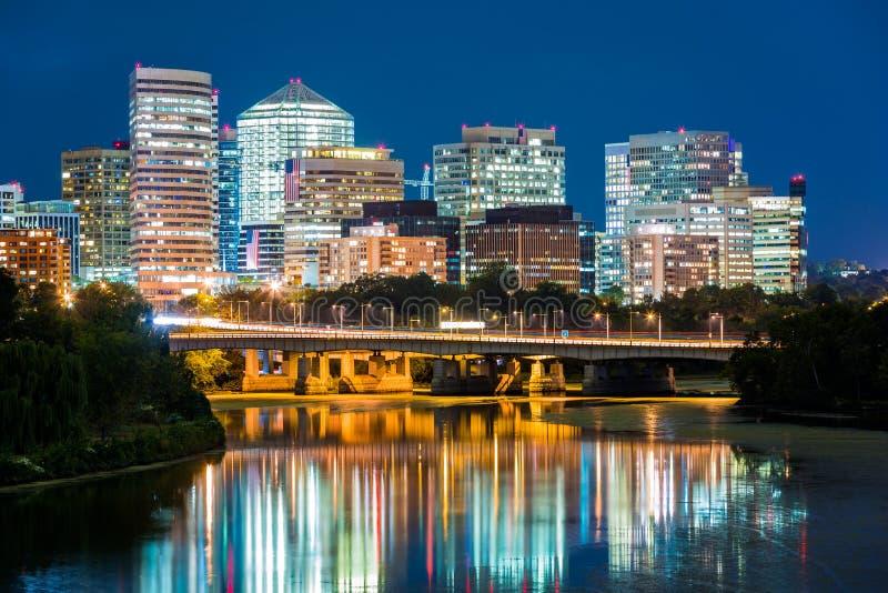 Rosslyn district skyline, Washington DC stock photography
