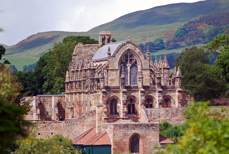 Rosslyn kaplica Szkocja zdjęcie royalty free