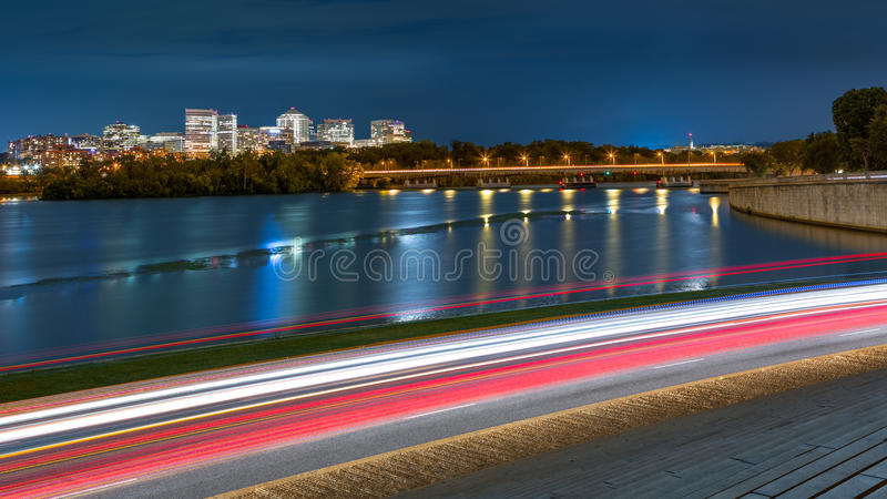 Rosslyn Skyline and traffic in Washington DC stock images