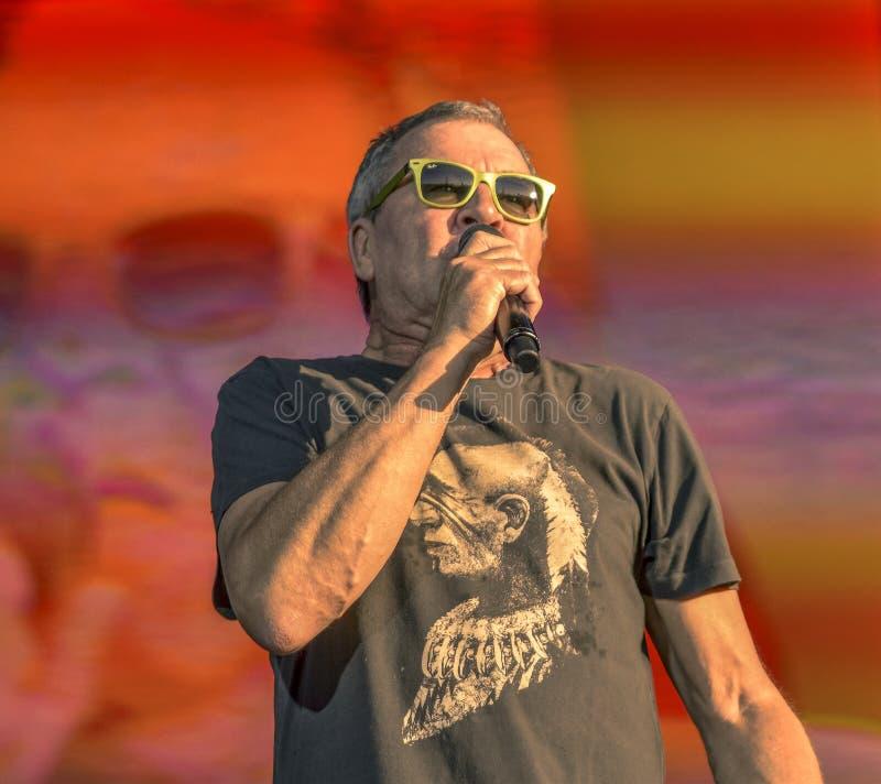 Rosso-acceso Ian Gillan vive di concerto 2017 immagine stock libera da diritti