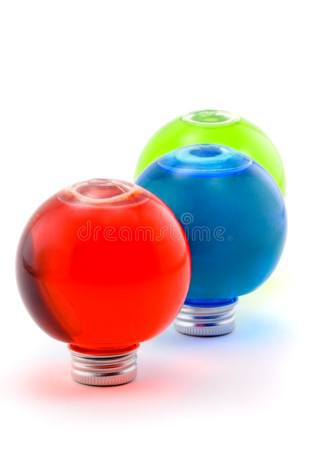 Rosso, blu, verde immagine stock