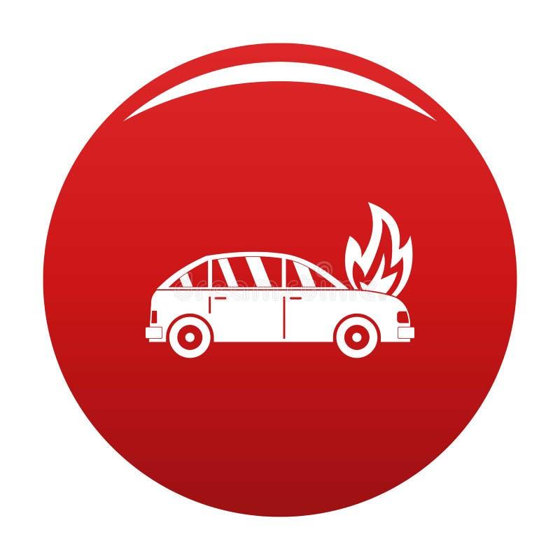 Rosso bruciante di vettore dell'icona dell'automobile royalty illustrazione gratis