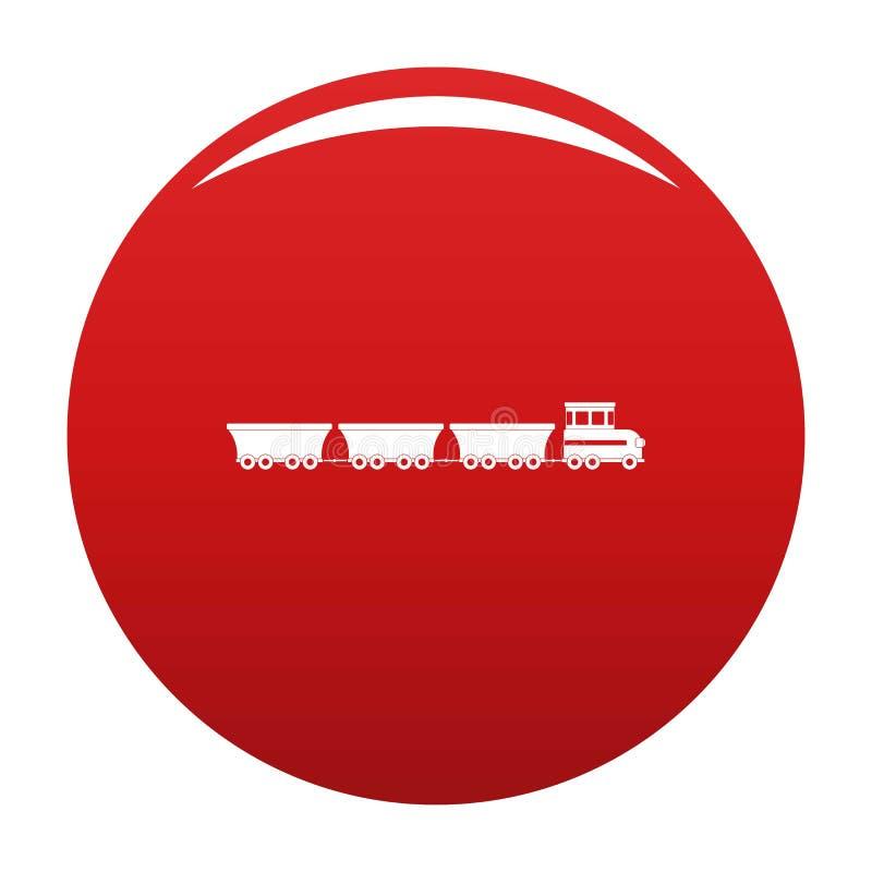 Rosso commerciale di vettore dell'icona del treno illustrazione di stock