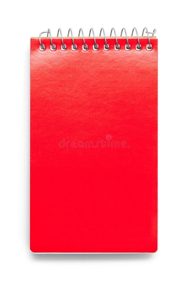 Rosso del blocco note fotografia stock libera da diritti
