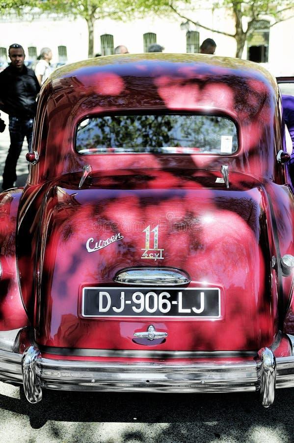 Rosso della trazione anteriore di Citroen fotografia stock libera da diritti