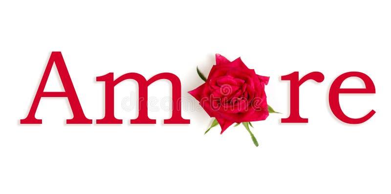 Rosso di Amore fotografia stock