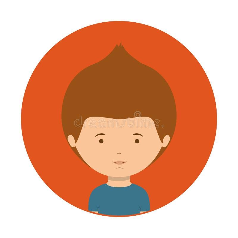 Rosso di mezzo adolescente del corpo con la maglietta royalty illustrazione gratis