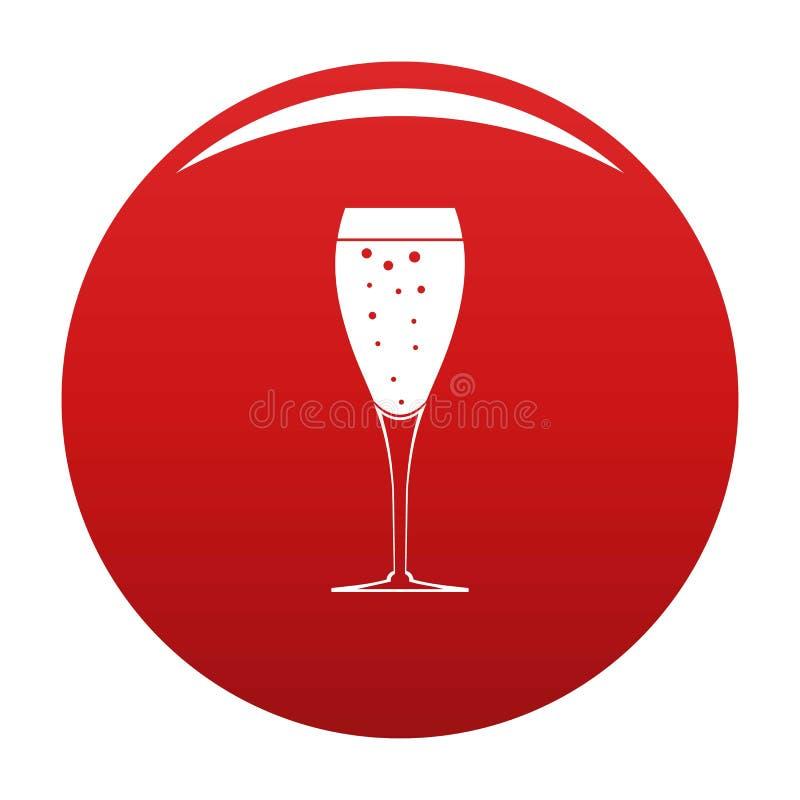 Rosso di vetro completo di vettore dell'icona royalty illustrazione gratis