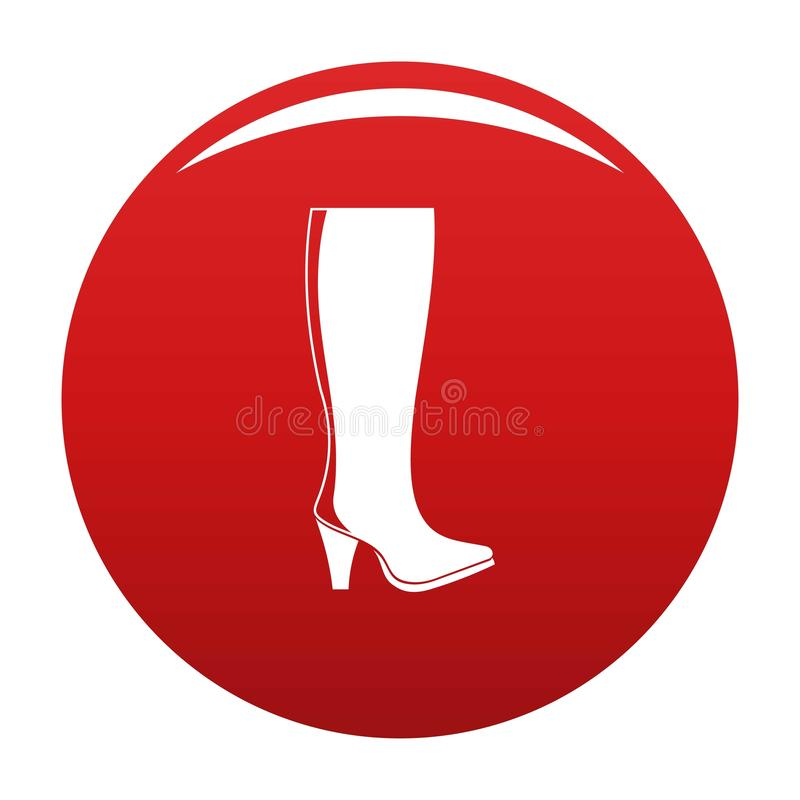 Rosso di vettore dell'icona degli stivali della donna illustrazione di stock