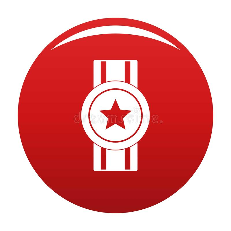 Rosso di vettore dell'icona del nastro del premio illustrazione vettoriale