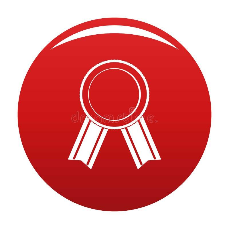 Rosso di vettore dell'icona del nastro del premio illustrazione di stock