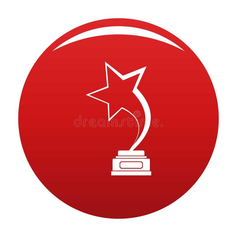 Rosso di vettore dell'icona del premio della stella royalty illustrazione gratis