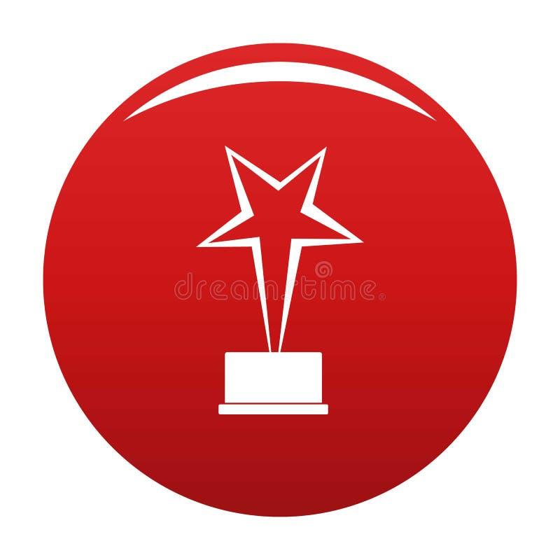 Rosso di vettore dell'icona del premio della stella illustrazione vettoriale