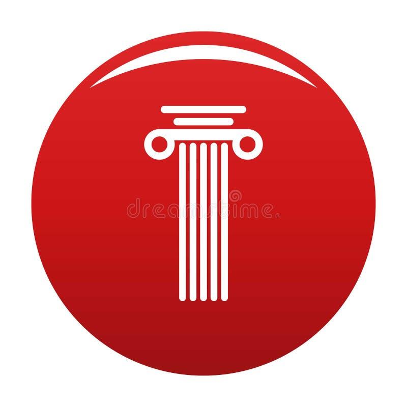 Rosso di vettore dell'icona della colonna quadrata illustrazione di stock
