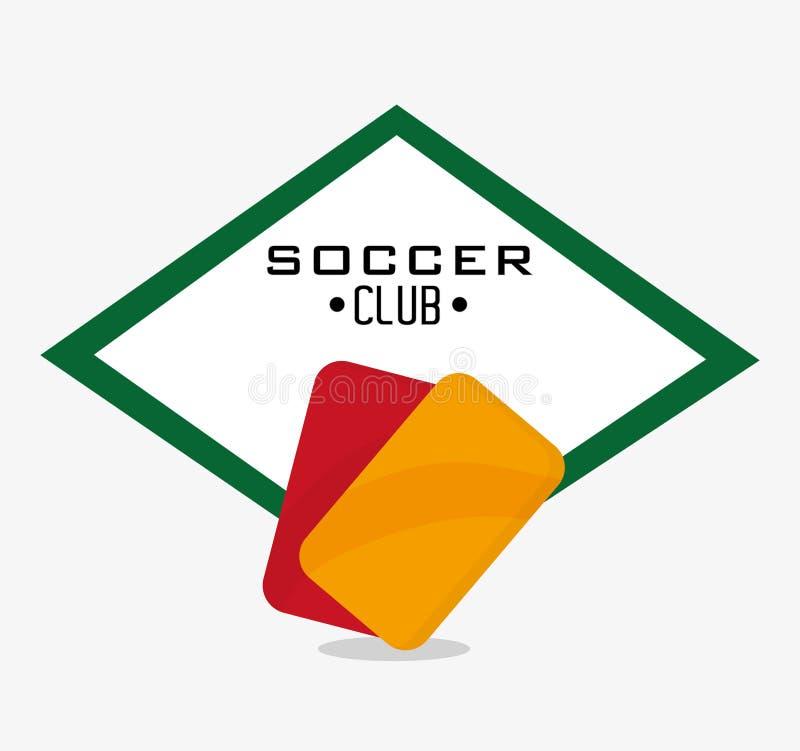 Rosso e cartellino giallo di progettazione di sport di calcio illustrazione vettoriale