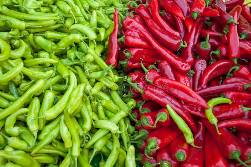 Rosso e peperoni verdi immagine stock libera da diritti