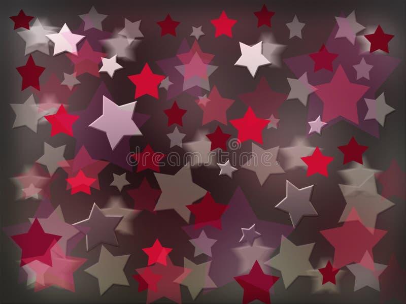 Rosso e stelle della perla illustrazione vettoriale