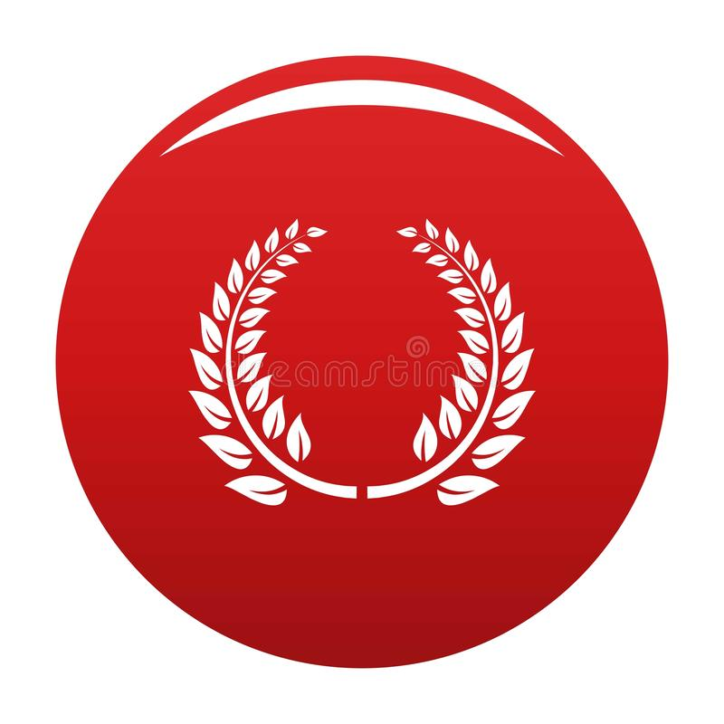 Rosso floreale di vettore dell'icona della corona illustrazione di stock