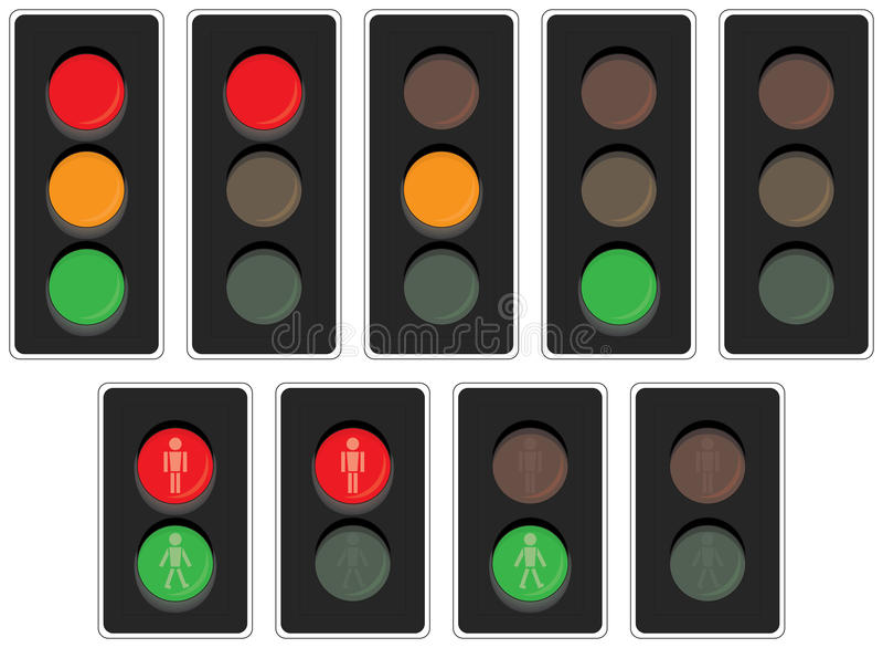 Rosso, giallo, verde illustrazione di stock
