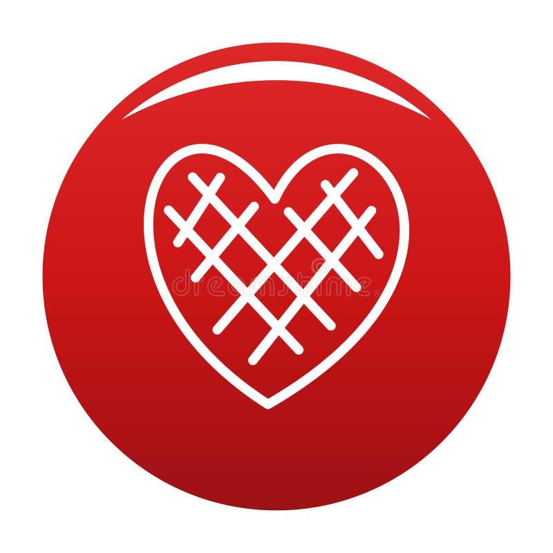 Rosso impressionabile di vettore dell'icona del cuore illustrazione vettoriale
