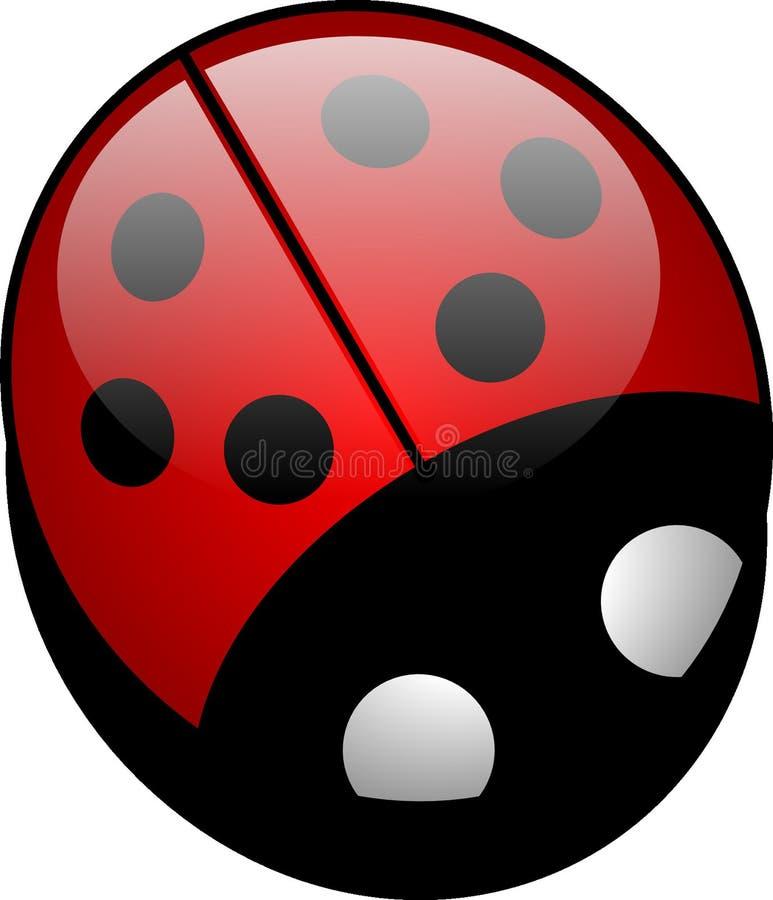 Rosso, Ladybird, progettazione, cerchio fotografia stock libera da diritti