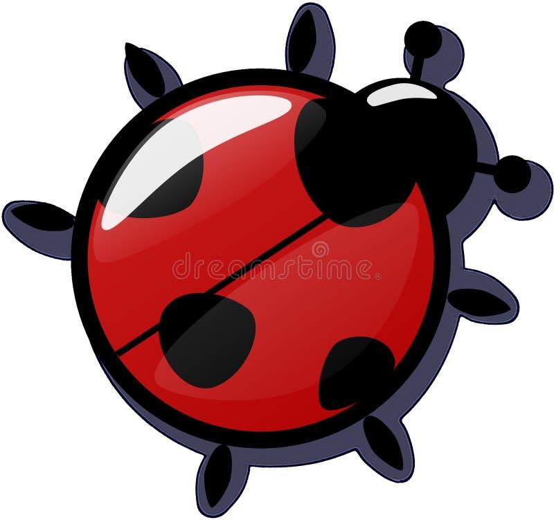 Rosso, Ladybird, progettazione, clipart fotografia stock libera da diritti