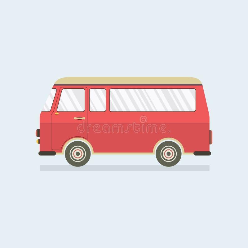 Rosso piano Van di progettazione illustrazione di stock