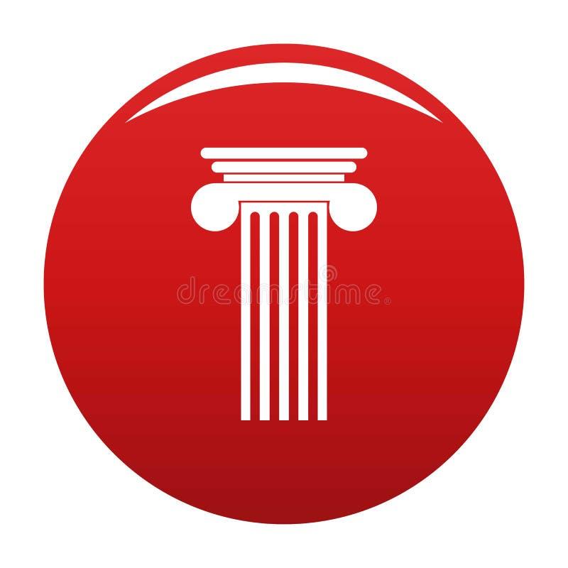 Rosso Polyhedral di vettore dell'icona della colonna royalty illustrazione gratis