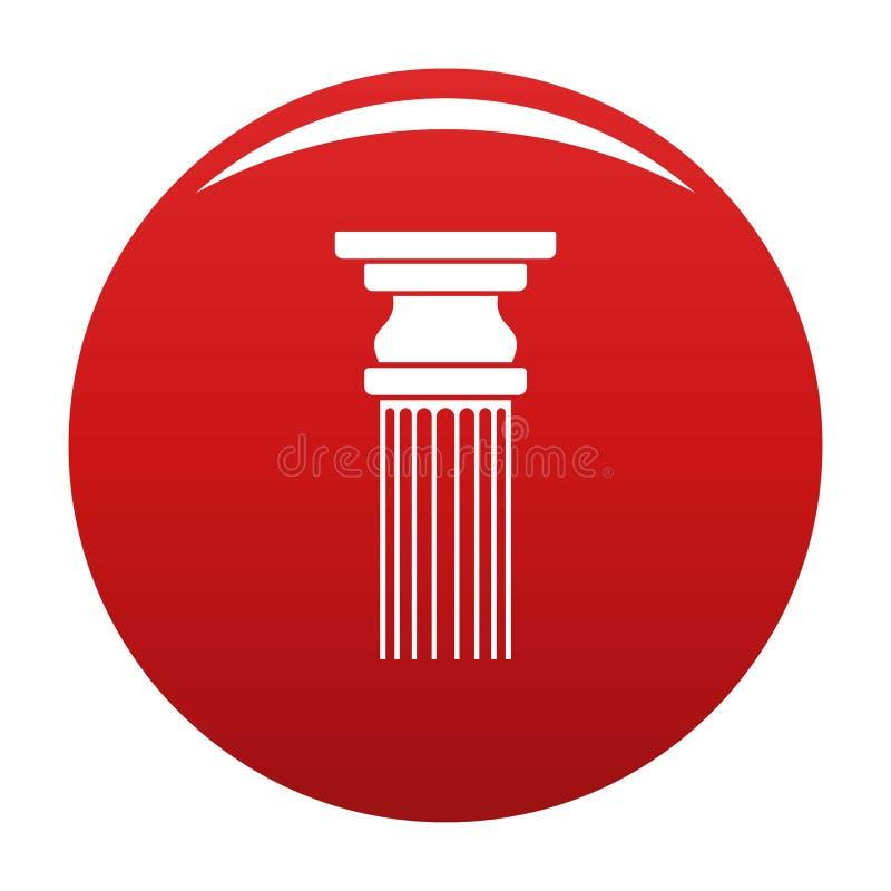 Rosso rettangolare di vettore dell'icona della colonna royalty illustrazione gratis