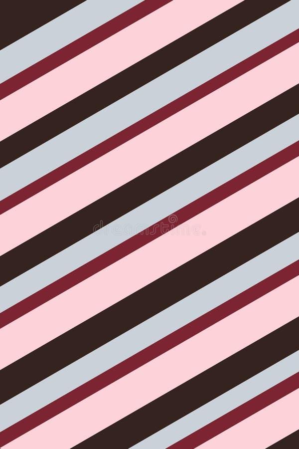 Rosso, rosa e struttura a strisce nera del fondo illustrazione vettoriale