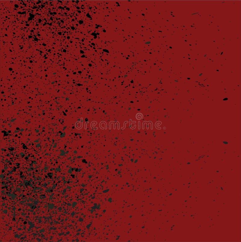 Rosso sangue schizzi il fondo con effetto di goccia illustrazione vettoriale