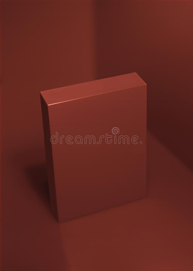 Rosso-scatola-rosso-angolo-fondo fotografie stock