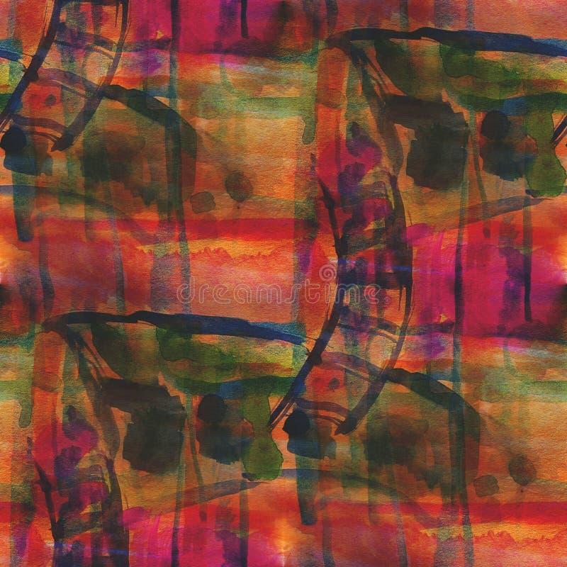Rosso senza cuciture dell'ornamento dell'immagine strutturata della tavolozza, fotografie stock libere da diritti