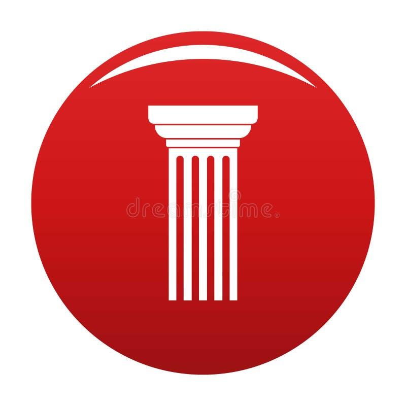 Rosso triangolare di vettore dell'icona della colonna royalty illustrazione gratis