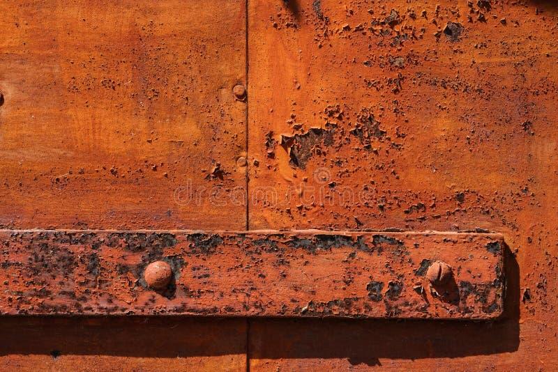 Rost auf altem Türwand Schmutz-Beschaffenheitshintergrund stockbild