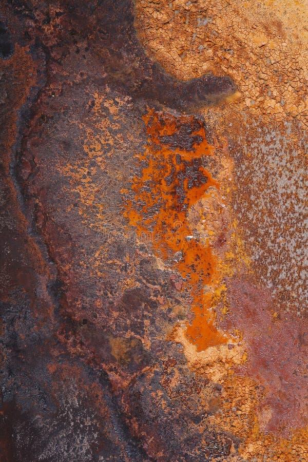Rost, der auf Eisen-Platte sich bildet lizenzfreies stockfoto