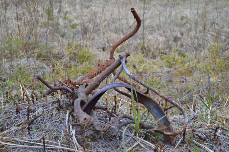 Rostad cykel royaltyfri bild