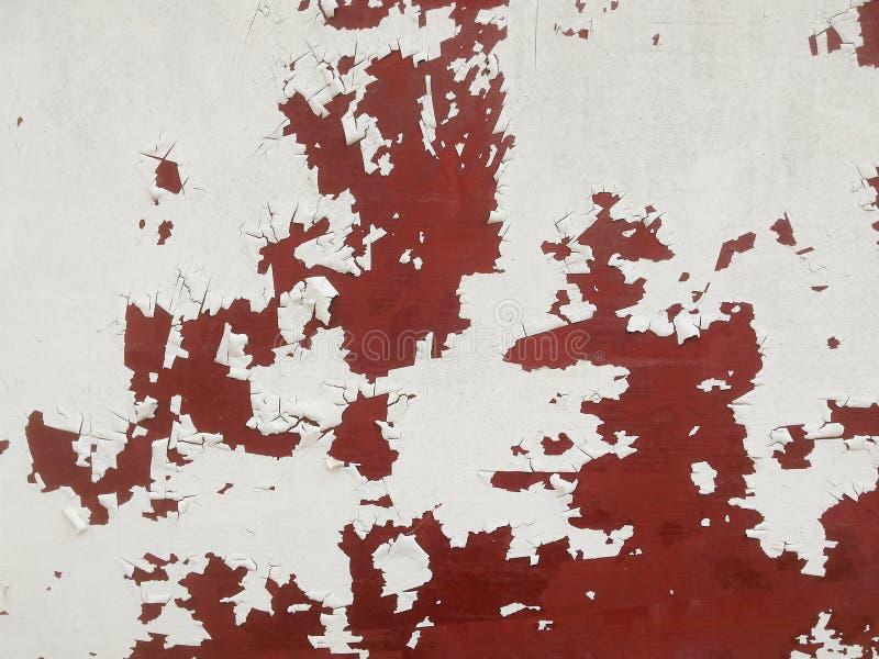 Rostad för väggsprickor för vit metall bakgrund för textur royaltyfri bild