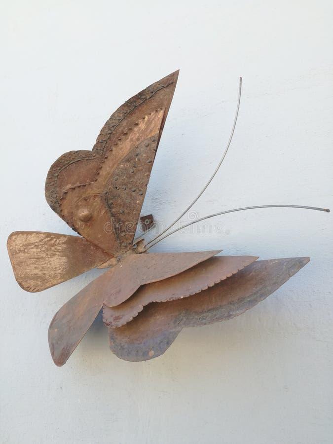 Rostad fjäril arkivfoto