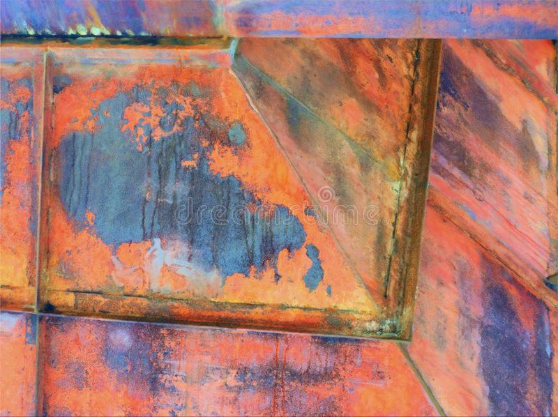 Rostad metall, abstrakt expressionistisk typbild arkivbilder