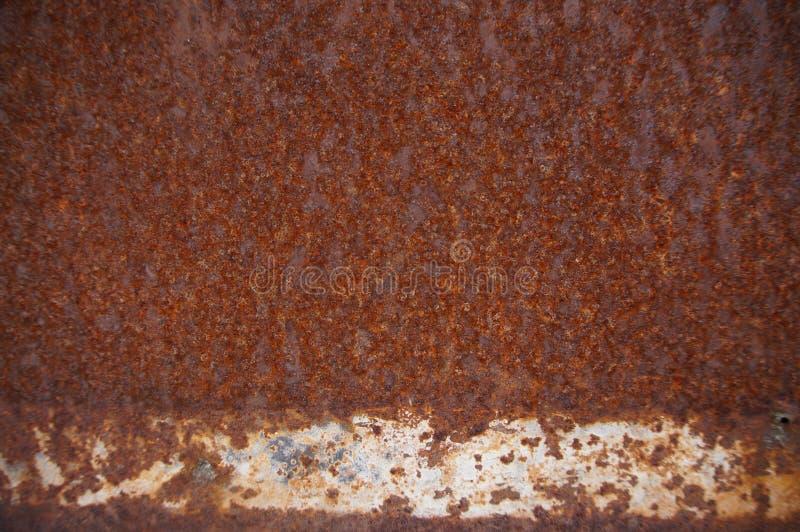 Rostad metalltexturbakgrund close upp arkivfoton