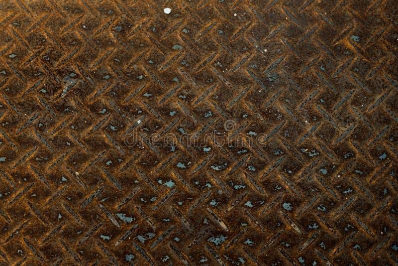 Rostad textur för stålväggbakgrund arkivbilder