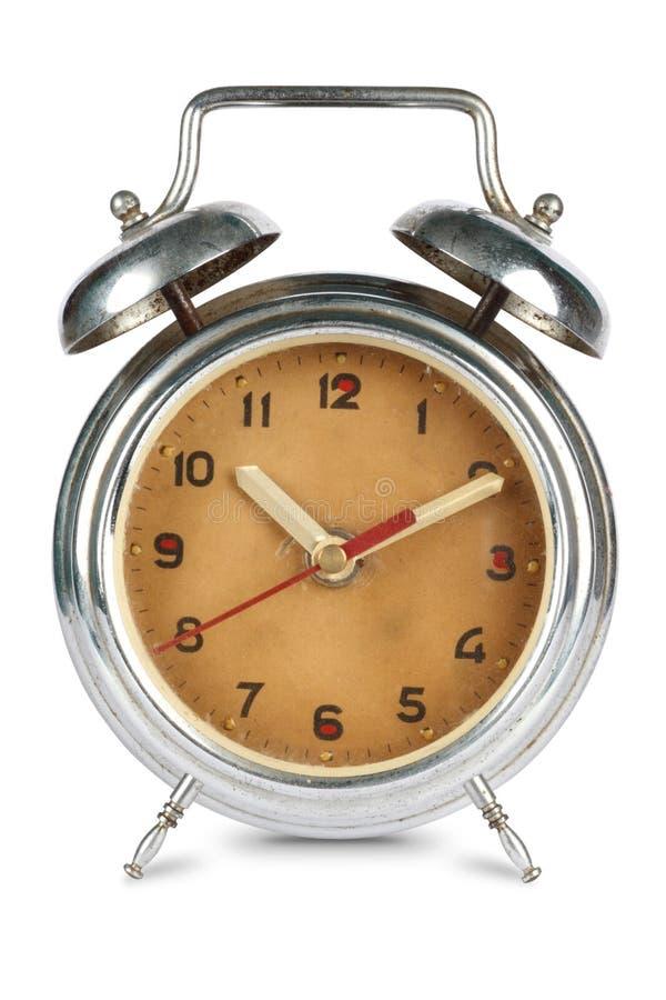 rostade den antika klockan för alarmet arkivbilder